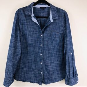 Men's Tommy Hilfiger Chambray Button Down Size L